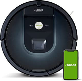 iRobot® Roomba® R981 connected Robot Vacuum with Dual Multi-Surface Rubber Brushes - Ideal for Pets - Recharges and Resume...