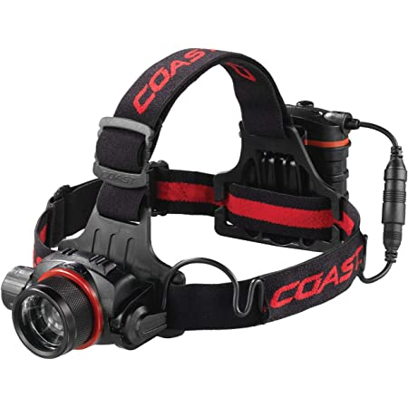 Coast Hl8r 800 Lm Rechargeable Pure Beam Focusing Led Headlamp Black Amazon Com