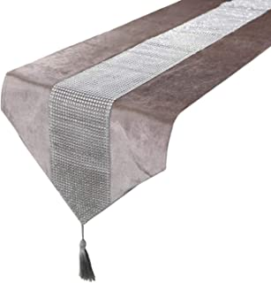 Gooding life 1pcs Modern Table Runner Flannel Diamond Table Marriage Runners Pillow Case Table Mat for Wedding Chirstmas Decoration,Purple,30x40cm Napkin