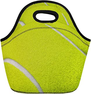 Coloranimal Big Capacity Neoprene Lunch Food Bag 3D Tennis Printed Extra Pouches