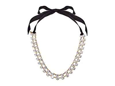 J.Crew Layered Sparkle Tie Necklace (Crystal) Necklace