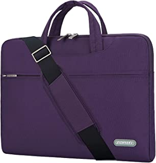 YOUPECK 10 10.5 11 11.6 inch Laptop Case, Laptop Shoulder Bag, Waterproof Notebook Sleeve, Carrying Case With Strap for Chromebook Macbook HP Stream Samsung Acer Asus Dell Lenovo Tablet, Purple