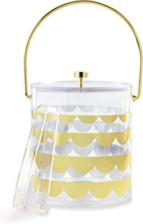 Kate Spade New York Kitchen/Outdoor Dining & Entertaining Acrylic Drinkware, Gold Scallop Collection (Ice Bucket)
