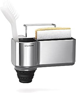 simplehuman Sink Caddy Sponge Holder, Brushed Stainless Steel