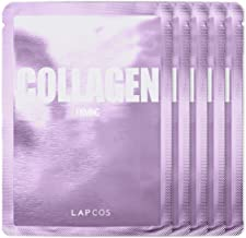 LAPCOS Collagen Sheet Mask, Daily Face Mask with Collagen Peptides for Wrinkles and Dark Spots, Korean Beauty Favorite, 5-...