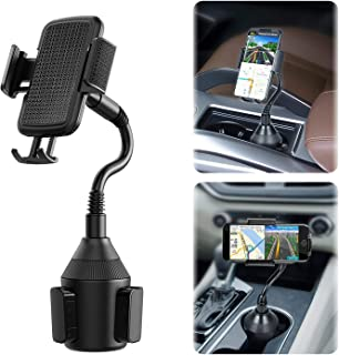 Evetebol [Upgraded] Car Cup Holder Phone Mount, Universal Adjustable Gooseneck Car Mount with 360° Rotatable Cradle for Cell Phones