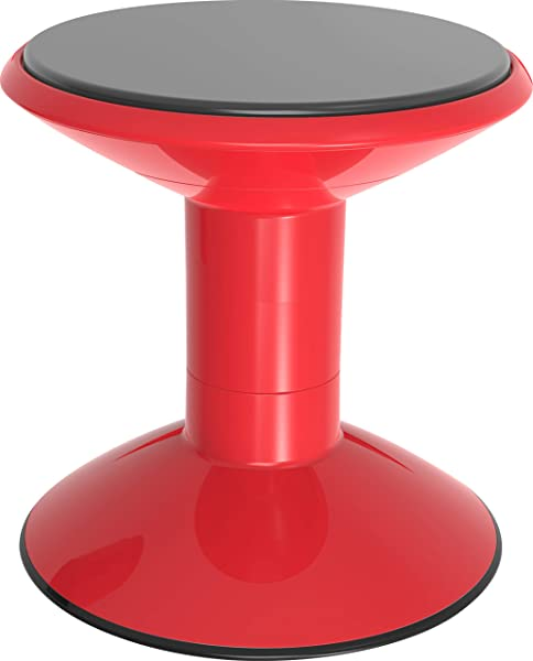Storex Wiggle Stool Adjustable Height 12 14 16 Or 18 For Active Seating In The Classroom Red 00302U01C