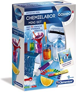 Clementoni 59072 Galileo Science Chemistry Lab Mini Set Toy for Children Aged 8 Years and Above 50 Experiments for Home Va...