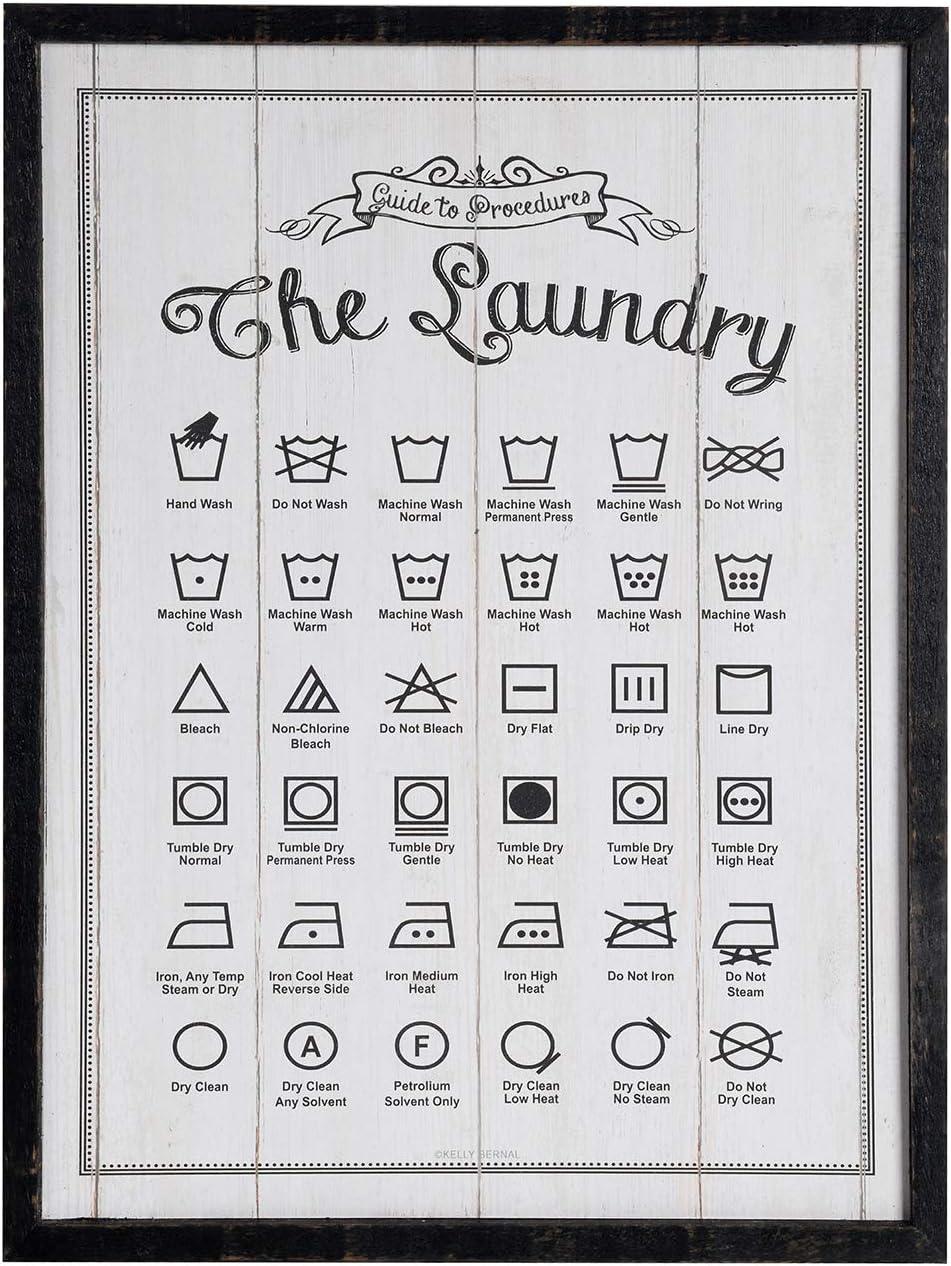NIKKY HOME Laundry Art Symbols Sign Albuquerque Mall Farmhouse 16 x shipfree 12 Wood inch