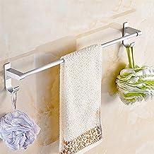 XINHU Handdoekenrek - Badkamer Ruimte Aluminium Handdoekenrek Lange Handdoek Bar Gratis Ponsen (enkele Pool/Dubbele Paal)...