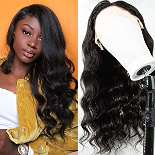 Fake Scalp Wig Body Wave Inviaible Knot 13x6 Lace Front Wig Human Hair Pre Plucked with Baby Hair for Black Women 130% Density 16 inch