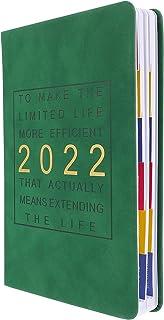 دفتر ملاحظات مخططة 2022 من تويفيان وكتابة مذكرات ودفتر ملاحظات للدراسة المكتبية (أخضر)