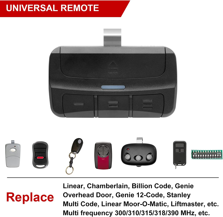 Buy Pumier 3 Button Universal Garage Door Opener Remote Controls Up To 3 Garage Door Openers Replacement For Liftmaster Chamberlain Genie Linear Stanley 300 310 315 318 390mhz Online In Vietnam B094hyqg2n