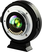 VILTORX EF-M2 Focal Reducer Booster Auto-Focus 0.71x Lens Mount Adapter for Canon EF Mount Series Lens to M43 Camera