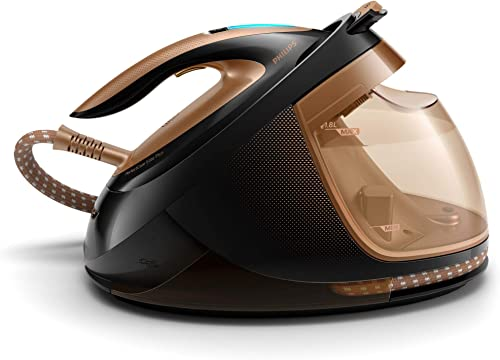Philips PerfectCare Elite Plus Steam Generator Iron with OptimalTEMP Technology, 1.8L Detachable Water Tank and Autom...