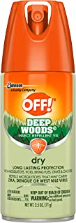 OFF! Deep Woods Insect & Mosquito Repellent, Long lasting Dry Aerosol Bug Spray, 2.5 oz.