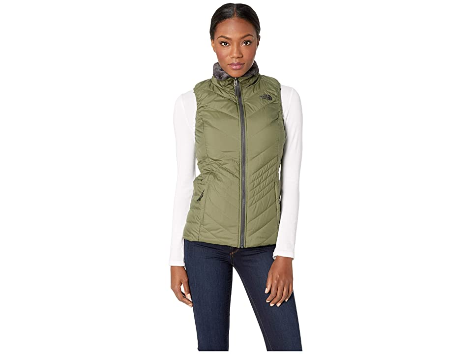 The North Face Mossbud Insulated Reversible Vest (Four Leaf Clover/Weathered Black) Women