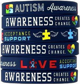 (12-Pack) Autism Awareness Bracelets - Wholesale Bulk Pack of 1 Dozen Silicone Wristbands in Adult Unisex Size