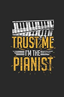 Trust Me I'm The Pianist: Dotted Bullet Notebook – Music Instrument Gift For Keyboardist
