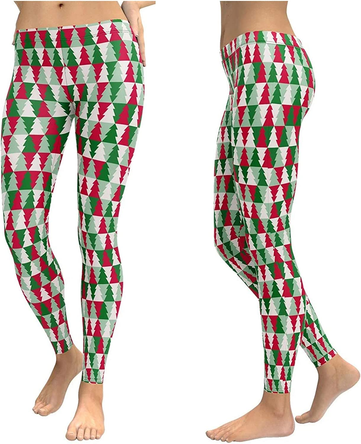 UpdateClassic Womens Christmas Leggings Ugly Legging for Yoga Active Workout Xmas Tree Fitness Tight Pants