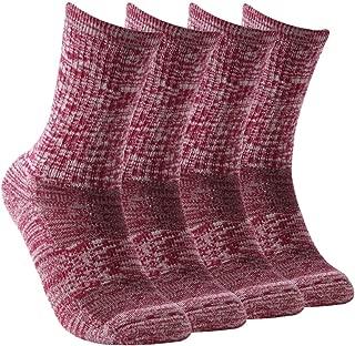 Vive Bears Merino Wool Socks Women's Hiking Socks Cushion Outdoor Crew Socks with Arch Support
