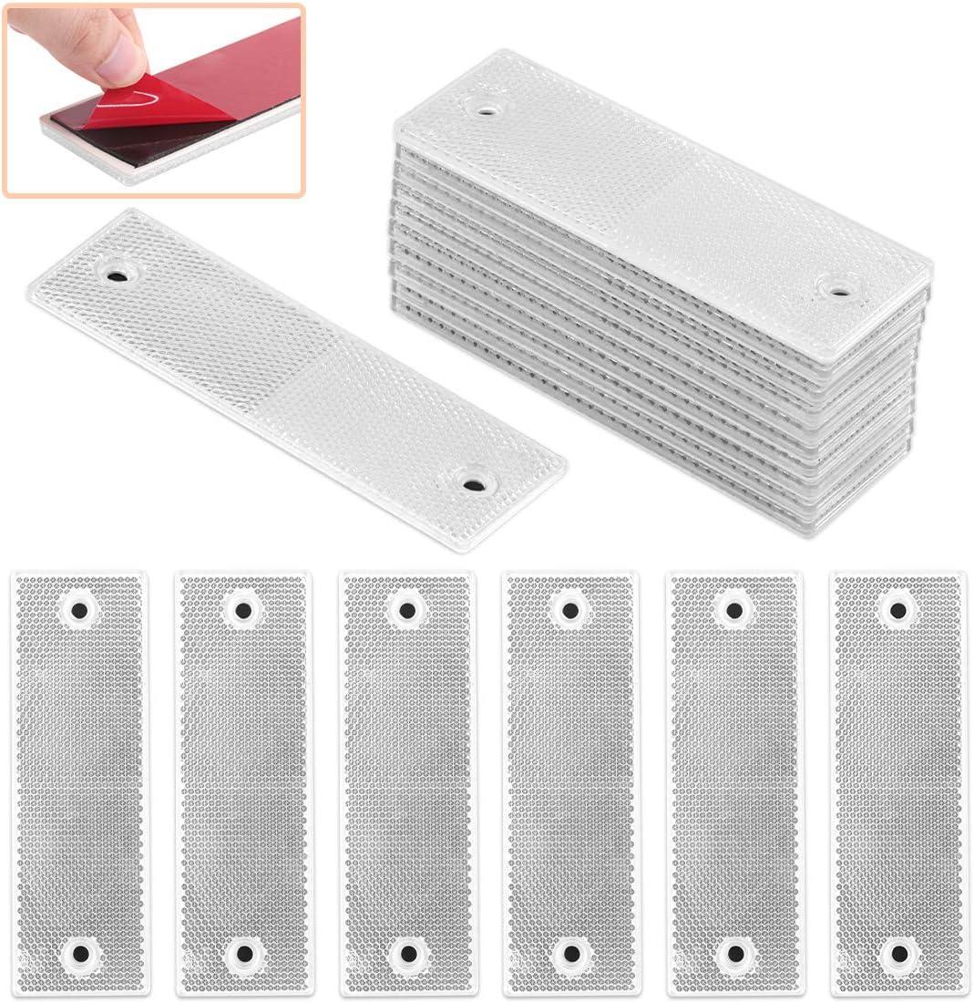 Rustark 20 Pcs White Plastic Self-adh Waterproof New gift York Mall Tape Reflective