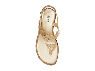 MICHAEL Michael Kors Flora Thong (Pale Gold) Women
