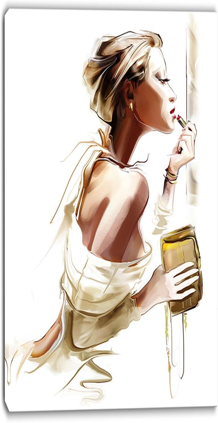 Design Art 驚きの値段で Fashion Woman-Portrait 年末年始大決算 Digital Print-20x40 Canvas