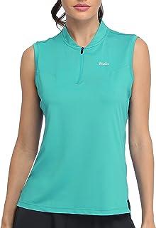 Willit Women's Sleeveless Golf Polo Shirts Tennis Sports Tank Lightweight Quick Dry UPF 50+ Athletic Shirts