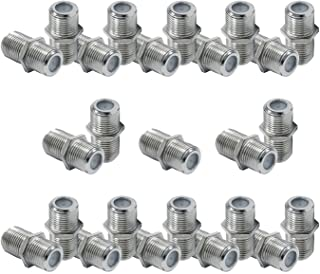 GE Coaxial Cable Extension Adapter Couplers, 50-Pack, Works on F-Type RG59 RG6 Coax Cables, Connects Two Coaxial Cables to...