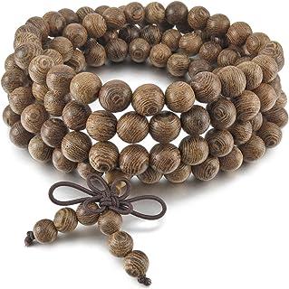 MunkiMix 8mm Legno Bracciali Bracciale Braccialetto Collegamento Polso Collana Catena Catenina Tibetano Buddista Perline P...