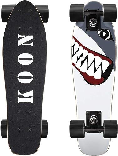 KO-ON Skateboard Complete Skateboards 22 Inch Mini Cruiser Skateboards for Beginners Kids Boys and Girls