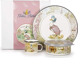 Golden Rabbit - Enamelware Jemima Puddle-Duck Pattern Child Dinner Set