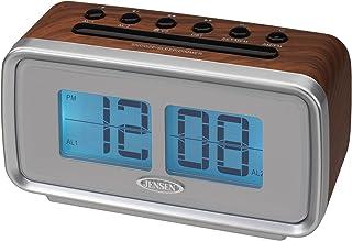 Jensen JCR-232 Clock Radio, Brown