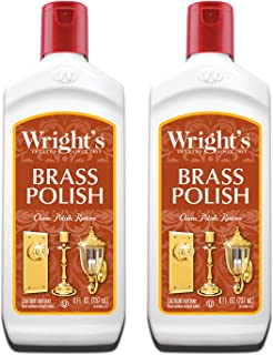 Wright's Brass and Copper Polish and Cleaner - 8 Ounce (2 Pack) - Gently Cleans and Removes Tarnish Without Scratching