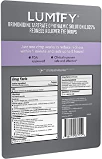 Lumify Redness Reliever Eye Drops, 7.5mL/0.25 fl oz (Pack of 2)