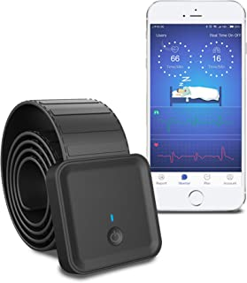 Super Sensitive Intelligent Sleep Tracking Monitor with APP, Heart Rate Viability, Breathing, Movement, Tossing and Turning Monitoring Pad. Non-Wearable, Rechargeable and Compatible with Apple Health