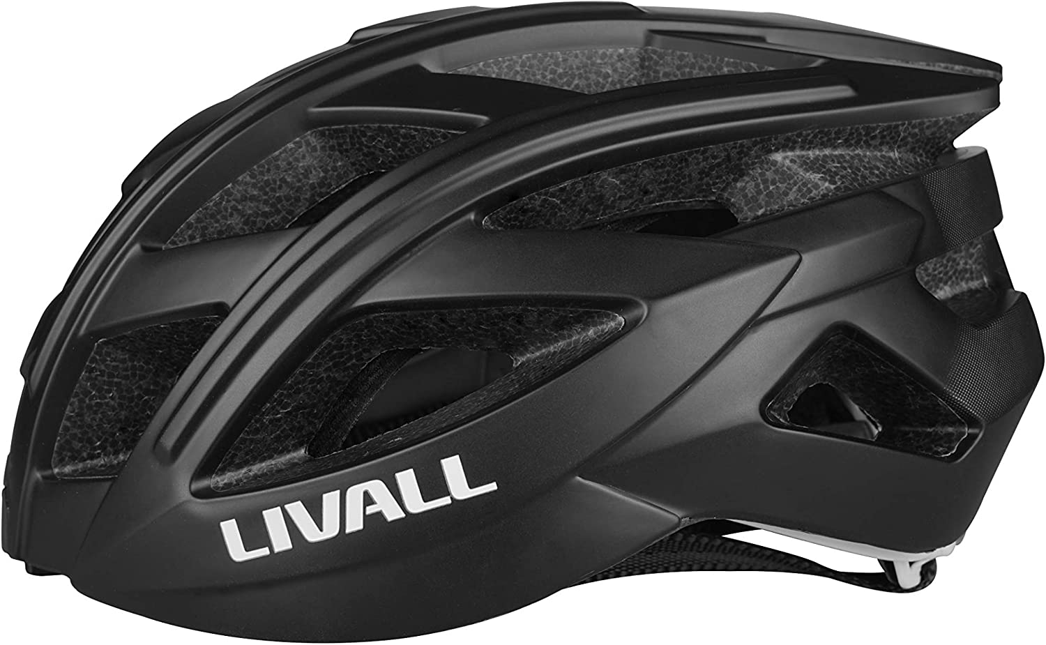 Livall Road Bling Bike Smart blueeetooth Cycling Helmet with LED Light Handsfree BH60SE - Polar Black
