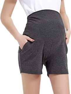 Maternity Pajama Shorts Lounge Pants with Pockets High...