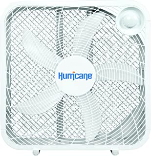 "Hurricane 736501 Box 20"" Floor Fan, Classic White"