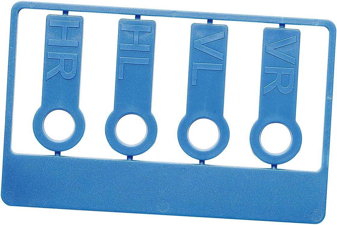 Uakeii Reifenmarkierset Beschriftete Reifenmarkierung Für Reifenwechsel Radmarker Blau Auto