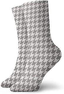 Elsaone, Classic Houndstooth Classic Houndstooth Vestido largo con estampado tropical Calcetines divertidos Calcetines locos Calcetines casuales para niñas Niños
