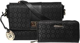 Yuejin Baguettes Handbag for Women - Leather, Black