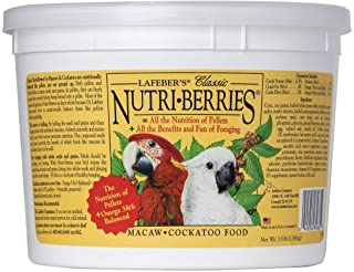 LAFEBER'S Classic Nutri-Berries Pet Bird Food, Made with Non-GMO and Human-Grade Ingredients, for Macaws and Cockatoos, 3....