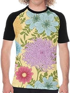 Men's Baseball T-Shirt Geometrical Seamless Chaotic Short Sleeve Casual Printed Raglan Baseball Tee For Sports Gym Workout