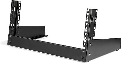 "StarTech.com 4U 19"" Desktop Open Frame Rack - 2 Post Free-Standing Network Rack Switch Depth for Patch Panel/Data/AV/IT/Co..."