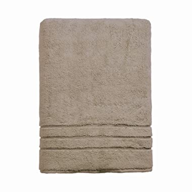 Cariloha 600 GSM Bamboo & Turkish Cotton Bath Sheet - Odor Resistant, Highly Absorbent - Includes 1 Towel - 1-Year Limited Quality Warranty - Stone