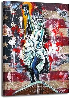 Banksy Wall Art Statue of Liberty Poster Marilyn Monroe Wall Decor National Flag Graffiti Art Canvas Prints for Bedroom Living Decor Art (Marilyn Monroe, 28x40inch(70x100cm))