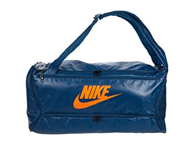 Nike Brasilia Backpack Duffel (Valerian Blue/Valerian Blue/Total Orange) Bags