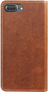 Nomad Horween Leather Folio Case for iPhone 7 Plus - With Cards and Cash Pockets - Rustic Brown